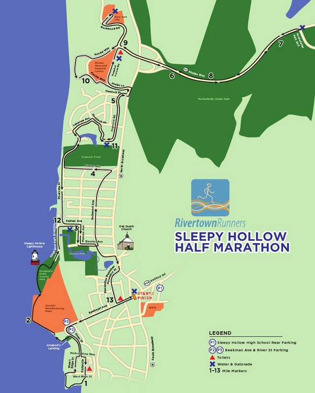 SH Half Marathon Course Map